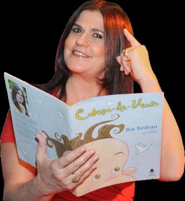 Bia Bedran com livro